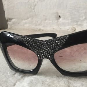 "Vintage bedazzled sunglasses ""Elton John"" style"